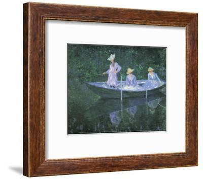 The Boat at Giverny-Claude Monet-Framed Art Print