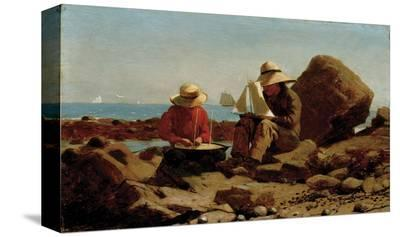 The Boat Builders, 1873-Winslow Homer-Stretched Canvas Print
