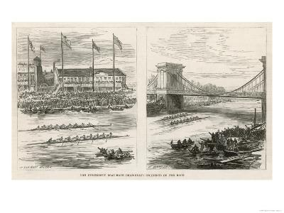 The Boat Houses at Hammersmith Race--Giclee Print