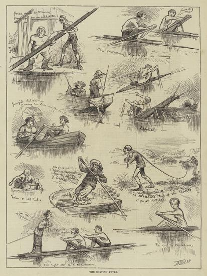 The Boating Fever--Giclee Print