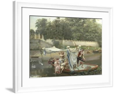 The Boating Party-Oreste Cortazzo-Framed Giclee Print