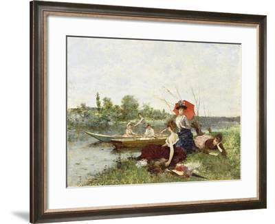 The Boating Party-Francesco Miralles Galaup-Framed Giclee Print