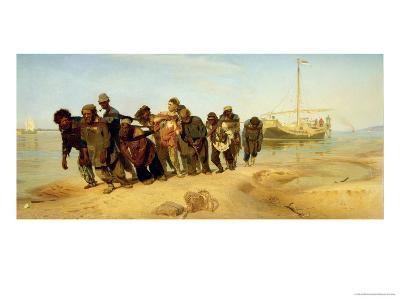 The Boatmen on the Volga, 1870-73-Ilya Efimovich Repin-Giclee Print