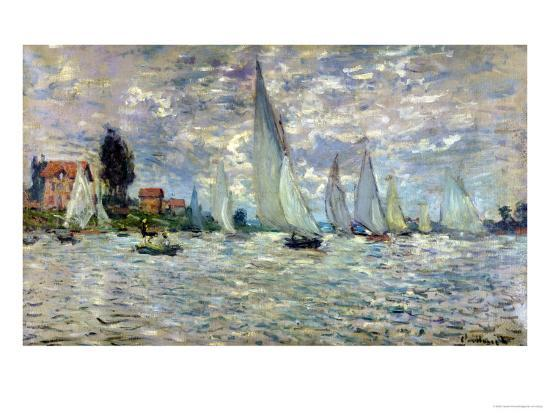 The Boats, or Regatta at Argenteuil, circa 1874-Claude Monet-Giclee Print