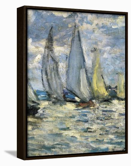 The Boats, or Regatta at Argenteuil-Claude Monet-Framed Canvas Print