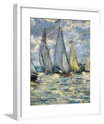 The Boats, or Regatta at Argenteuil-Claude Monet-Framed Giclee Print