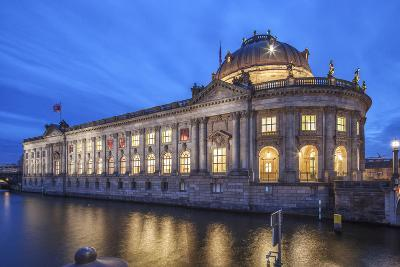 The Bode Museum on the Museum's Island in the Centre of Berlin. the River Spree in the Foreground.-David Bank-Photographic Print