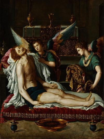 The Body of Christ Anointed by Two Angels-Alessandro Allori-Giclee Print