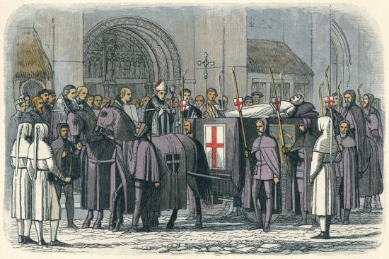 'The body of Richard brought to St. Paul's', 1400 (1864)-James William Edmund Doyle-Giclee Print