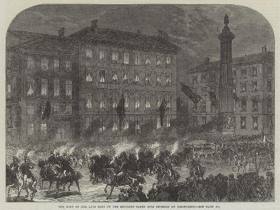 The Body of the Late King of the Belgians Taken into Brussels by Torchlight-Charles Robinson-Giclee Print