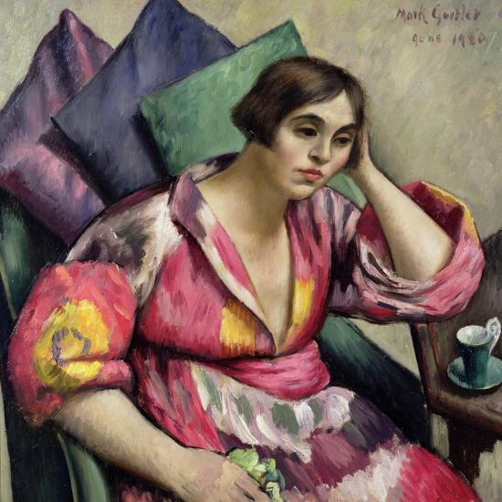 The Bokhara Coat, 1920 Giclee Print by Mark Gertler | Art com