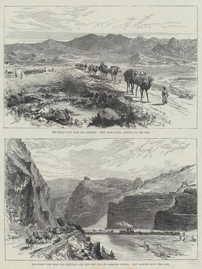 The Bolan Pass Road and Railway--Giclee Print