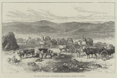 The Bolan Pass Road, Transport Carts Carrying Stores to Quetta--Giclee Print
