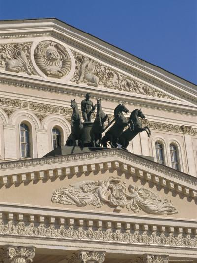 The Bolshoi Theater, Moscow, Russia-Charles Bowman-Photographic Print