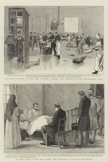 The Bomb Outrage in the Paris Chamber--Giclee Print