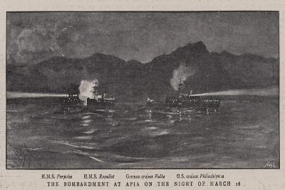 The Bombardment at Apia on the Night of 16 March-Alexander Stuart Boyd-Giclee Print