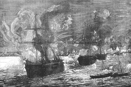'The Bombardment of Alexandria', 1882, (c1882-85)-Unknown-Giclee Print