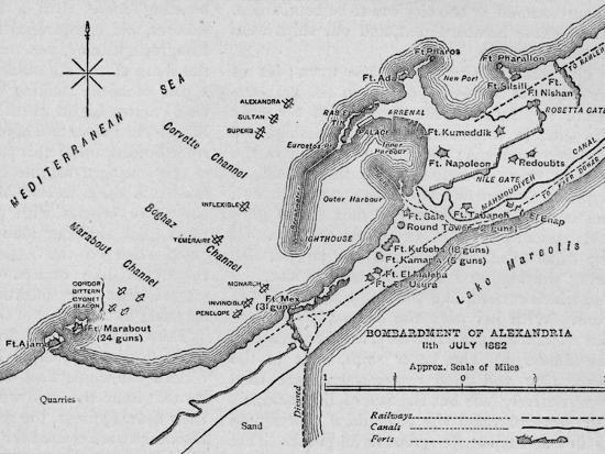 'The Bombardment of Alexandria: Sketch Map', 1902-Unknown-Giclee Print