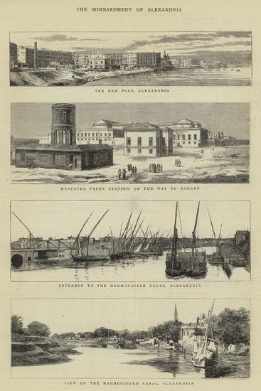 The Bombardment of Alexandria--Giclee Print