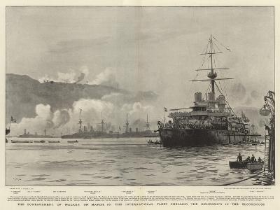 The Bombardment of Malaxa on 23 March-William Lionel Wyllie-Giclee Print