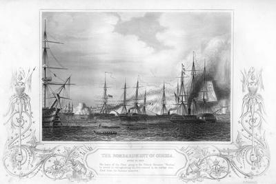 The Bombardment of Odessa, Ukraine, During the Crimean War, 1854-George Greatbatch-Giclee Print
