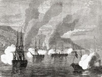 The Bombardment of Valparaiso on 31 March 1866, from 'L'Univers Illustré', 1866--Giclee Print