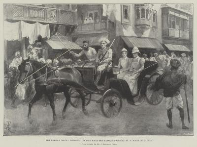 The Bombay Riots, Removing Nurses from the Plague Hospital to a Place of Safety-Amedee Forestier-Giclee Print