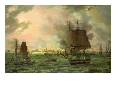 The Bombing of Cadiz by the French on 23rd September 1823, 1824-Louis Philippe Crepin-Giclee Print
