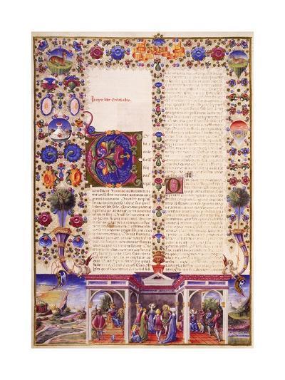 The Book of Ecclesiastes, from Volume I of Bible of Borso D'Este--Giclee Print