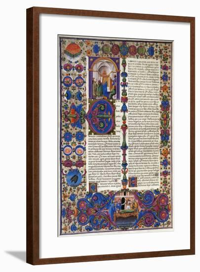 The Book of Exodus, from First Volume of Bible of Borso D'Este, Illuminated by Taddeo Crivelli--Framed Giclee Print