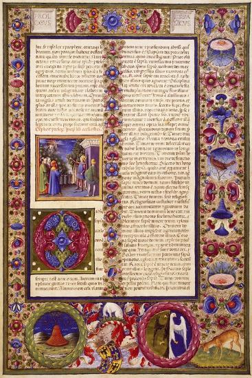 The Book of Sirach, from Volume I of Bible of Borso D'Este--Giclee Print