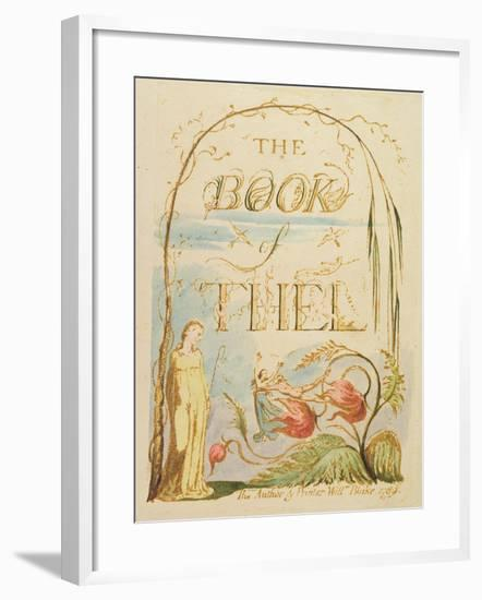 The Book of Thel, Plate 2 (Title Page), 1789-William Blake-Framed Giclee Print