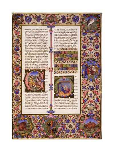 The Book of Tobias, from Volume I of Bible of Borso D'Este--Giclee Print