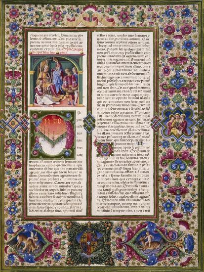 The Book of Wisdom, from Volume I of Bible of Borso D'Este--Giclee Print