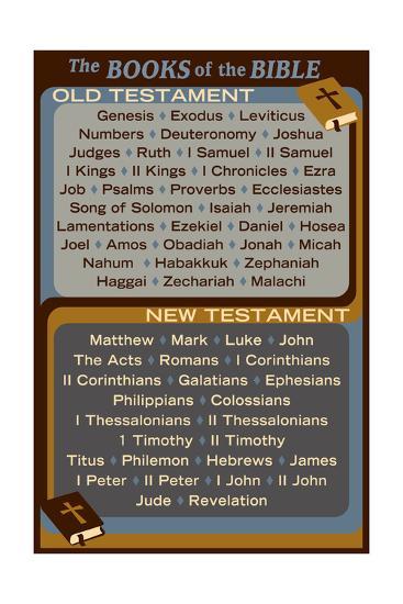 The Books of the Bible - Inspirational-Lantern Press-Art Print
