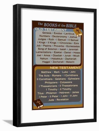 The Books of the Bible - Inspirational-Lantern Press-Framed Art Print