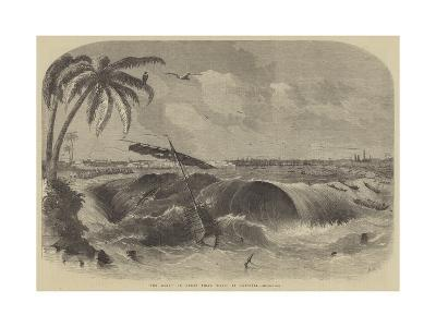 The Bore, or Great Tidal Wave, at Calcutta--Giclee Print