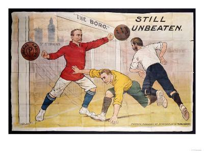 The Boro Still Unbeaten, Printed by Jordison & Co Ld, Middlesbrough--Giclee Print