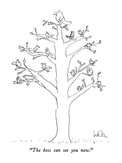 """""""The boss can see you now."""" - New Yorker Cartoon-Arnie Levin-Premium Giclee Print"""