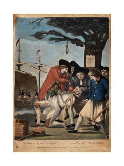 The Bostonian's Paying the Excise-Man, or Tarring and Feathering, 1774-Philip Dawe-Giclee Print
