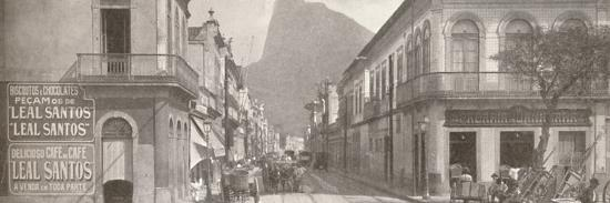 'The Botafogo end of the fashionable Rua Sao Clemente. Corcovado in the distance', 1914-Unknown-Photographic Print