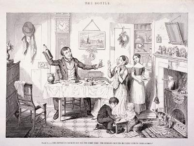 The Bottle, 1847-George Cruikshank-Giclee Print