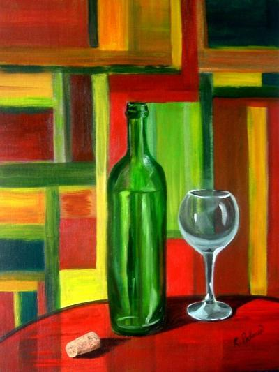 The Bottle is Empty-Ruth Palmer-Art Print