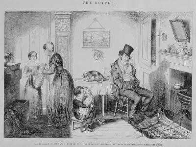 The Bottle, Plate II, 1847-George Cruikshank-Giclee Print