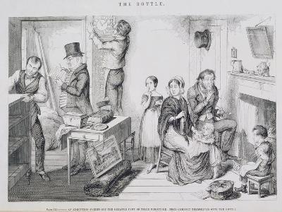 The Bottle, Plate III, 1847-George Cruikshank-Giclee Print