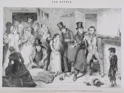 The Bottle, Plate VII, 1847-George Cruikshank-Giclee Print