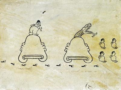 The Boturini Codex Fragment--Giclee Print