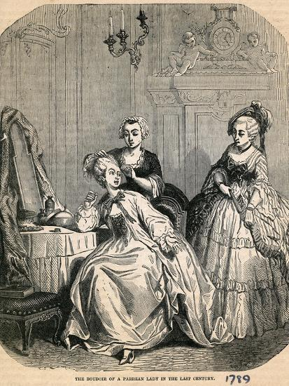 The Boudoir of a Parisian Lady in the Last Century, 1789--Giclee Print
