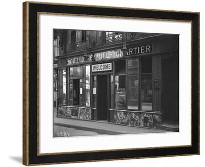 The Bouillon Camille Chartier Welcoming the Customer in English Language, Paris-Jacques Moreau-Framed Photographic Print