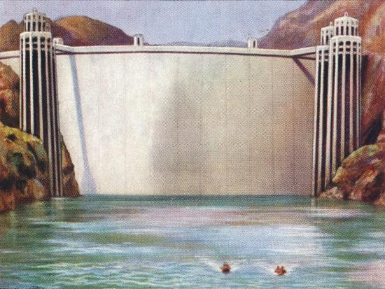 The Boulder Dam, USA, 1938-Unknown-Giclee Print